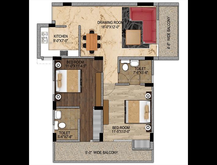 Maxvel Residency 2 BHK Flat in Dehradun